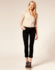 ASOS 7/8th Cotton Skinny Twill Trousers