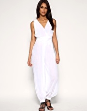 ASOS Cheesecloth Beach Jumpsuit