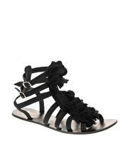 ASOS FLORENCE Canvas Flower Gladiator Sandals