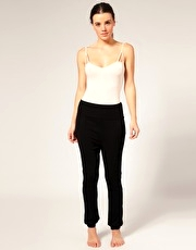 ASOS Harem Pants With Ribbed Seam Detail
