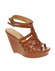 ASOS HENNA Plaited Leather Wedge
