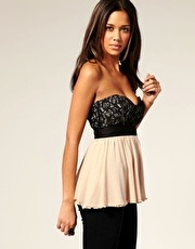 ASOS Lace Bustier Baby Doll Top