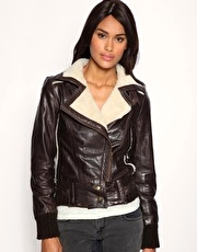 ASOS Leather Aviator Jacket