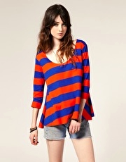 ASOS Long Sleeve Simple Stripe Top