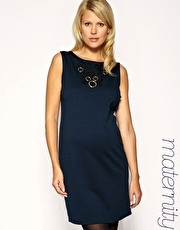 ASOS MATERNITY 60s Shift Dress With Cornelli Trim