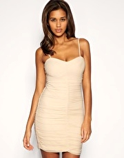 ASOS Mesh Ruched Strappy Dress