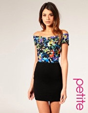 ASOS PETITE 2 in 1 Dress With Floral Print