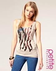ASOS PETITE Exclusive USA Flag Vest