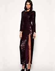 ASOS Sequin Side Split Maxi Dress