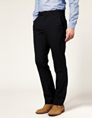 ASOS Straight Fit Dark Navy Trousers