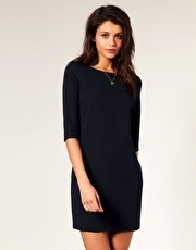 ASOS Tailored Three Quarter Length Sleeve Shift Dress