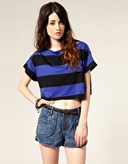 ASOS Wide Stripe Boat Neck Top