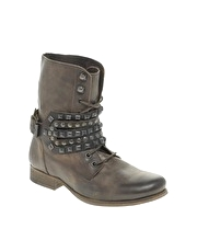 Bertie Nikky Heavy Kit Studded Detail Boot