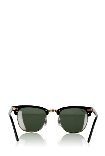 Black Classic Clubmaster Sunglasses by Ray Ban