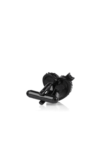Black Crystal Heart Cufflinks by Paul Smith Accessories