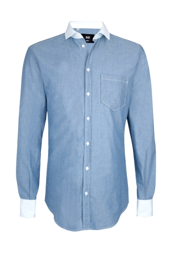 Blue Chambray Contrast Collar Shirt by D&G
