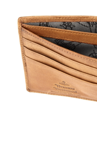 Cognac Stamp Orb Cash Coin Wallet by Vivienne Westwood