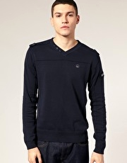 Duck & Cover Kirby V Neck Long Sleeve Top