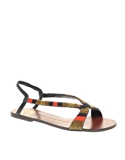 DV By Dolce Vita Nyle Beaded Flat Sandal