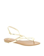 Faith Jackie Twist Front Flat Sandal