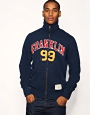Franklin & Marshall 99 Logo Zip Through Sweat