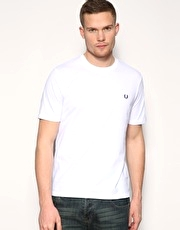 Fred Perry Crew Neck Plain T-shirt
