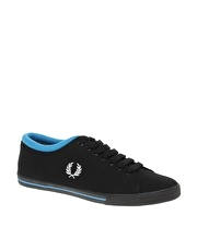 Fred Perry Reprise Cuff Canvas Plimsolls