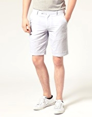 Fred Perry Striped Oxford Shorts
