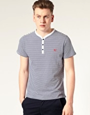 Fred Perry Striped Y Neck T-Shirt