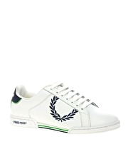 Fred Perry Woodspring Embroidered Trainers