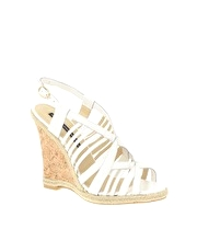 French Connection Darrelyn Strappy Sling Back Cork Wedge Sandal