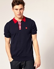 Gabicci Vintage Moore Knited Cotton Polo Shirt