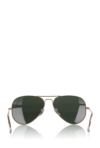 Green Lens Classic Gold Aviator Sunglasses by Rayban