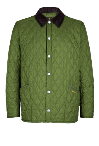 Green Lightweight Quilted Liddesdale Jacket by Barbour