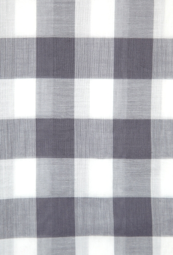 Grey Check Cotton Viole Summer Scarf by Universal Works