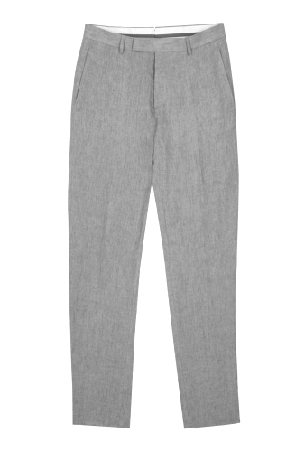 Grey Linen Tailored Trousers by Nicole Farhi