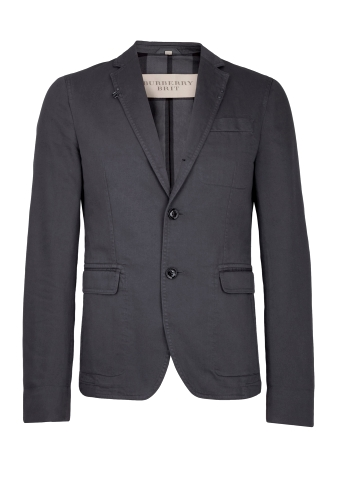 Grey Over-dyed Washed Cotton Blazer by Burberry