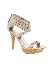Guess Jewelled Ankle Strap Platform Sandal
