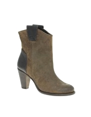 H By Hudson Kai Heeled Suede Ankle Boots