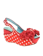 Irregular Choice Sling Bling Bow Front Wedge Sandals