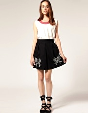 Jessica Ogden For ASOS Bow Hem Skirt