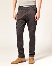 Junk De Luxe Logan Resin Coated Army Trousers