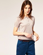 Laurel Wreath Collection By Richard Nicoll Lurex Polo Shirt