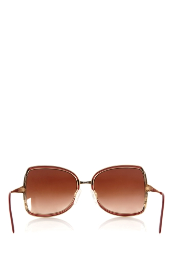 Maroon Vintage Metal Framed Gucci Sunglasses by Retrosun