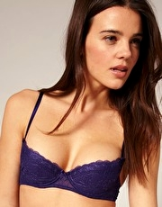 Mimi Holliday Indigo Lace Padded Super Plunge Bra