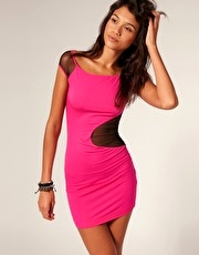 Miss Sixty Dress With Mesh