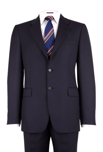 Navy Classic Fit Wool Suit by Joseph