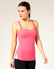 Nike Training Dri-Fit Strappy Vest With Shelf Bra