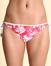 O Beach Hawaiian Print Tie Side Pants