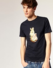 Paul Smith Jeans Hunted Zebra Head Crew Neck T-shirt